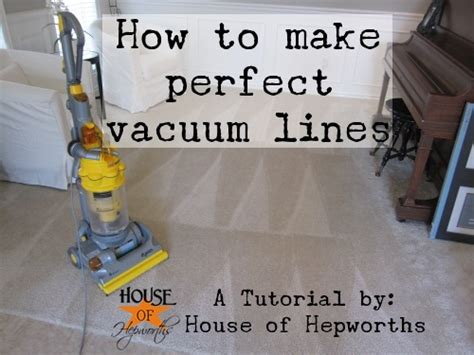 how to vacuum carpet how to create perfect vacuum lines with a vlog tutorial