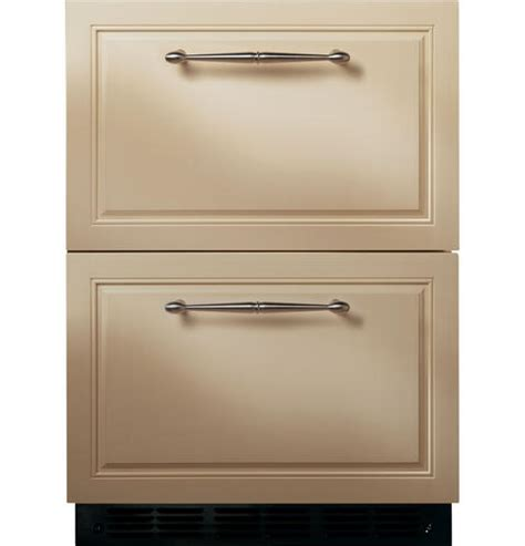 undercounter refrigerator drawers ge monogram ge monogram 24 034 panel ready double drawer under counter