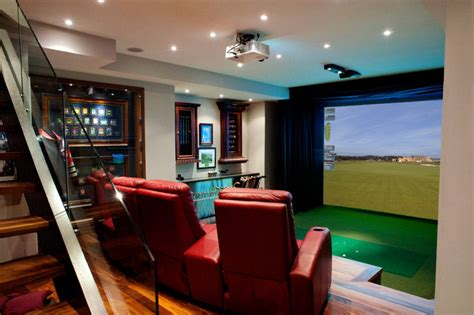 room golf hd golf simulators traditional home theater toronto