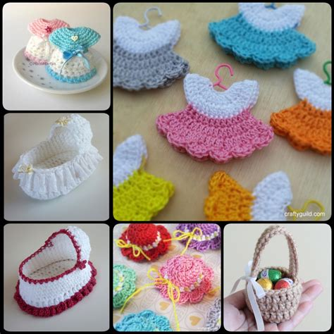 mini baby shower crochet mini baby shower favors with free patterns