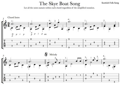 the skye boat song outlander theme for easy guitar - Outlander Skye Boat Song Guitar Chords