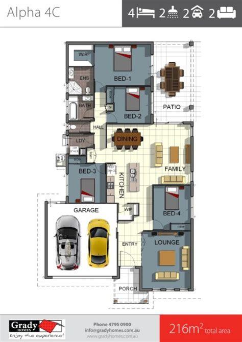 Split Bedroom Floor Plan alpha 4 4 bedroom house plan design townsville builder