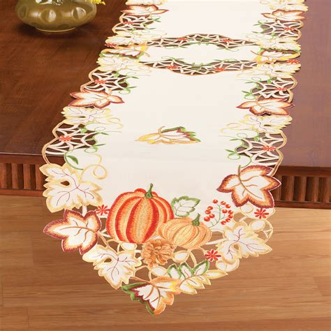 autumn harvest table linens fall harvest pumpkin table linens by collections etc ebay