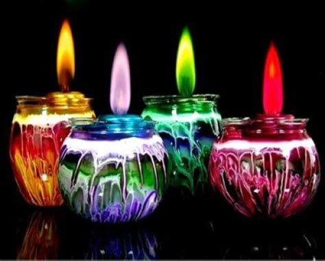 different color flames different colored flamed candles hacked gadgets diy