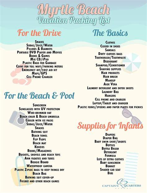 beach packing list packing tips travelingmom