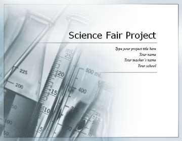 science project display board samples science fair board template