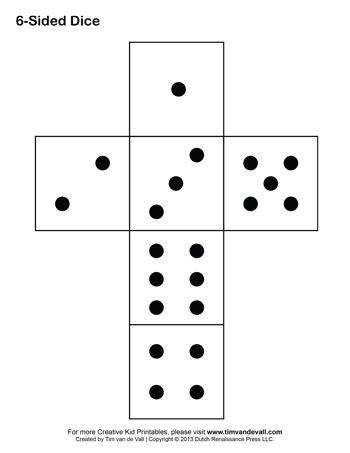 printable dice spots dice template tim s printables