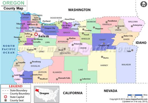 oregon usa map oregon county map oregon counties counties in oregon