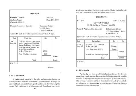 Credit Note Format For Commission Accountancy Basics