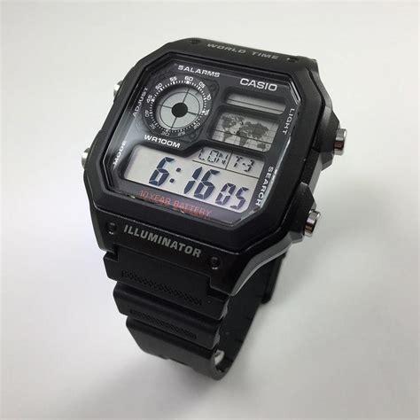Casio Original Word Time s casio world time digital ae1200wh 1a