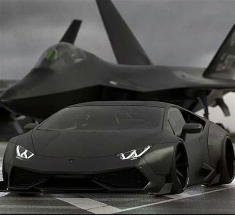 Lamborghini Vs F16 Lamborghini Huracan And F 22 Raptor Jet Fighters Guns