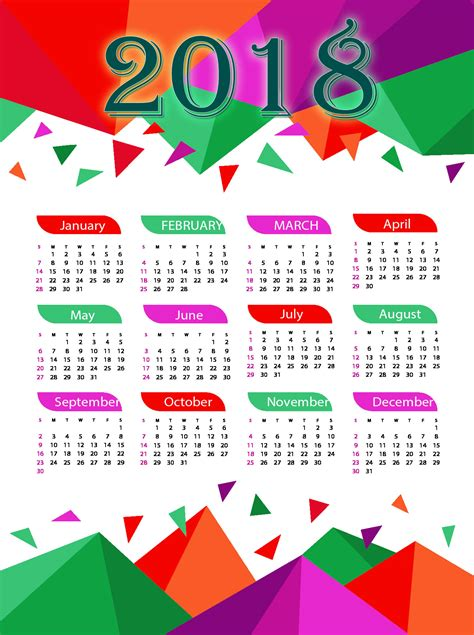 Best Happy New Year 2018 Calendar Images Free