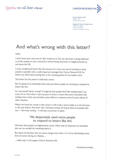 charity direct mail letter direct mail takes another of kicking fundraising