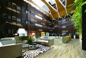 Business hotel relaxation area interior decoration