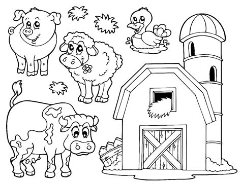 Pictures Of Farm Animals To Colour In Www Mindsandvines Com Farm Animals Colouring Pages
