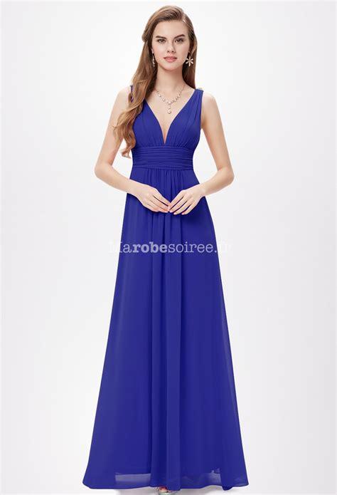 Robe Bustier Bleu Roi Mariage - robe de c 233 r 233 monie noir april longue d 233 collet 233 en