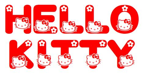 Phone Hellokitty Logo hello font just found this neat truetype font downl flickr