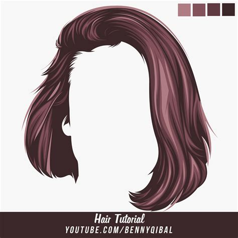 hair pattern adobe illustrator artstation vector hair photoshop tutorial benny qibal