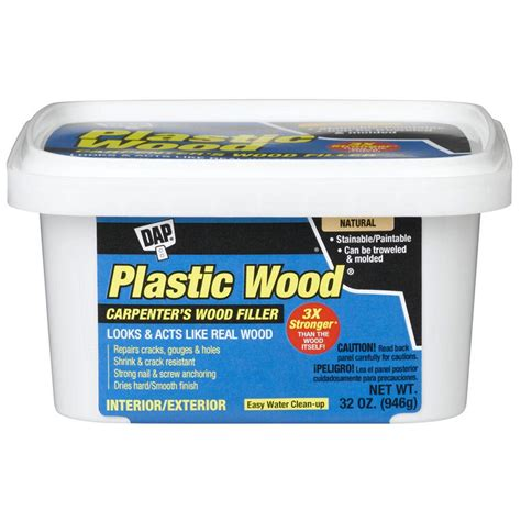 dap 32 oz plastic wood wood filler 00525