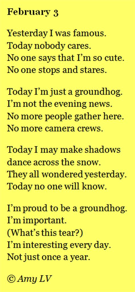 groundhog day poem groundhog day poem