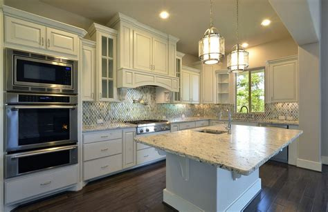 Pulls And Knobs For Kitchen Cabinets by Model Home Kitchen Cabinets In Bone White Burrows Cabinets