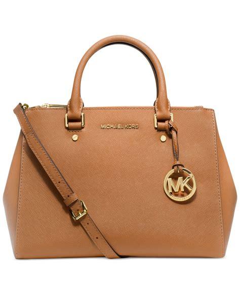 Mk Suitton michael kors michael sutton medium satchel in brown lyst