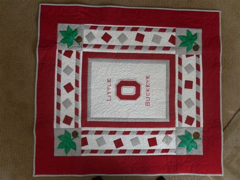 ohio state baby quilt