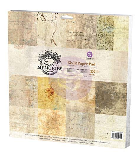 Memories Paper - prima marketing timeless memories paper pad jo