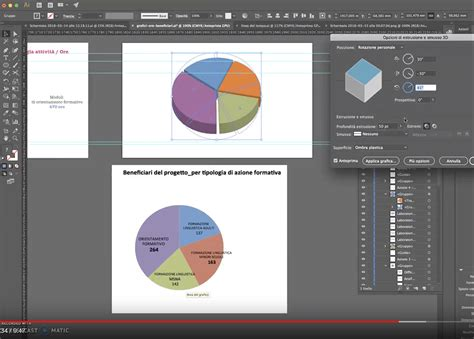 tutorial excel grafici come creare grafici a torta 3d con illustrator grafica