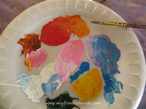 acrylic paint paper to use create a splattered paint flower garden my flower journal