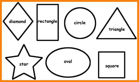 8 Shapes I by 13 Printable Shape Templates Ars Eloquentiae