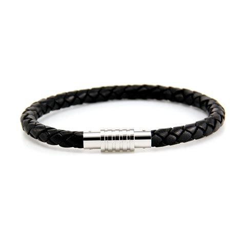 aagaard mens jewelry leather bracelet black 2 landing