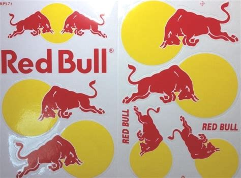 Red Bull Aufkleber Ebay 2pcs red bull stickers racing sports car helmet decal moto