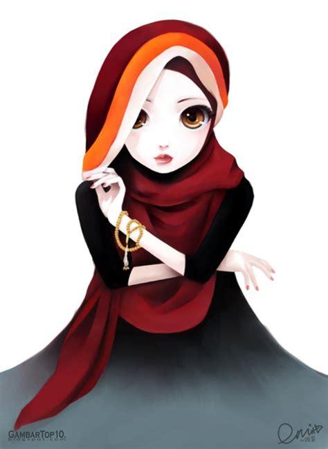 Top Animasi 1 10 gambar kartun muslimah gambar top 10