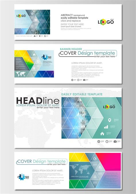 Social Media And Email Headers Set Modern Banners Business Templates Cover Design Template Free Email Banner Templates