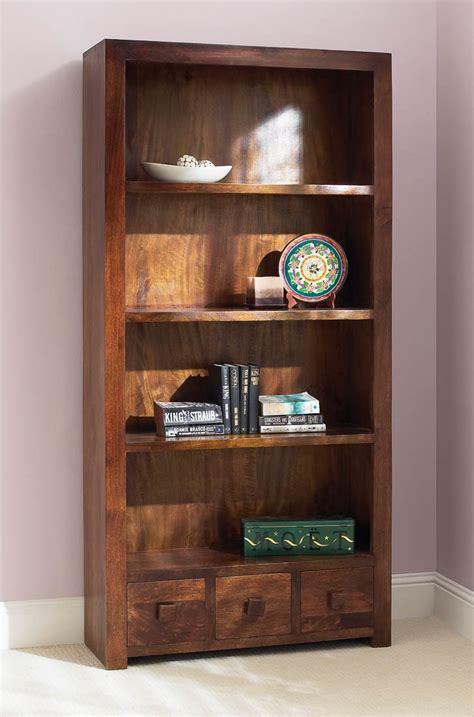 Bookcase Dakota 1 solid mango wood bookcase with drawers casa indian furniture