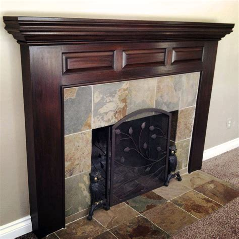 mantle makeover  java gel stain general finishes