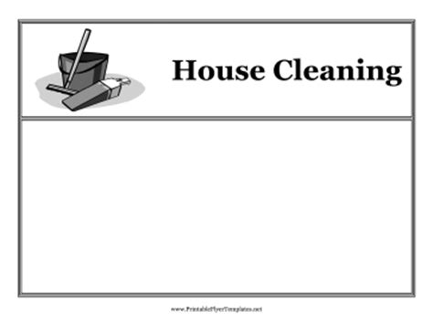 free house cleaning flyer templates best photos of printable blank flyers blank free