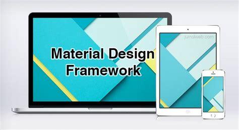 material design adalah 19 framework untuk membuat web material design responsive