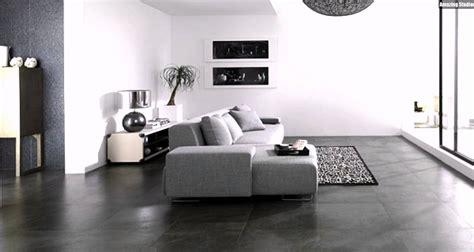 fliesen steinoptik porcelanosa boden grau sofa wohnzimmer - Inneneinrichtung Wohnzimmer