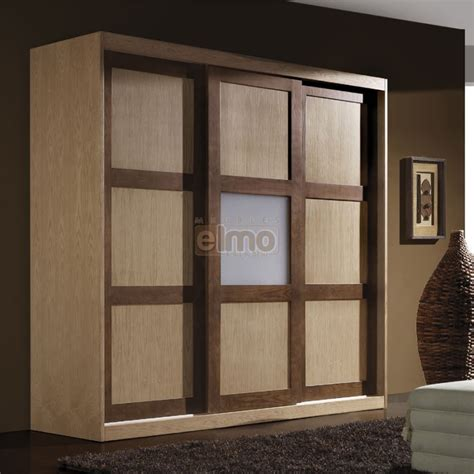 dressing wardrobe armoire dressing 3 portes coulissantes bois massif bicolore