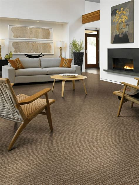 Living Room Carpet Exles Subtle Touch Is A Two Colored Cut And Loop Carpet With A