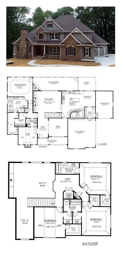 houses plan small house plan ch182 floor plans and outside images