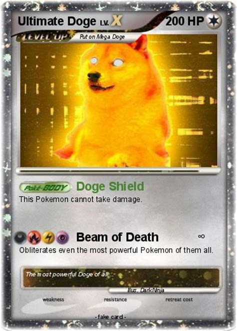 doge card pok 233 mon ultimate doge doge shield my card