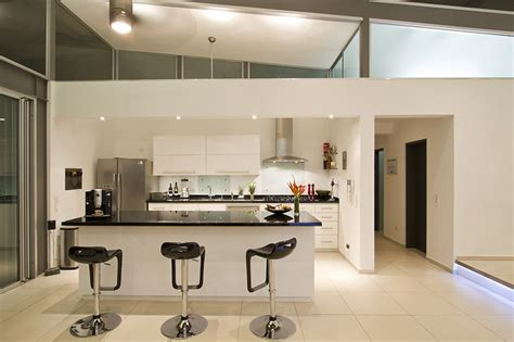 Kitchen House Design Modern Kitchen And Mini Bars At Modern Hill House Design