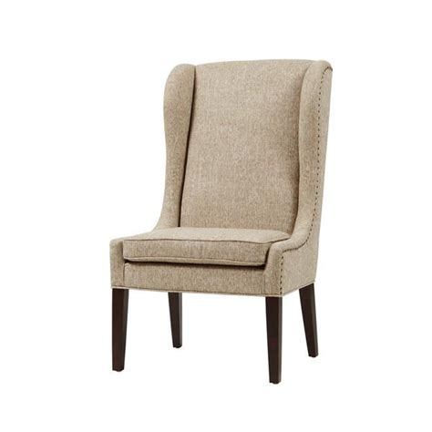 beige leather wingback chair park sydney beige traditional wing dining chair