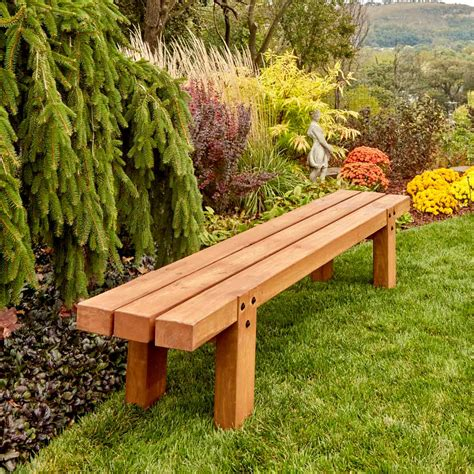 simple timber bench  family handyman