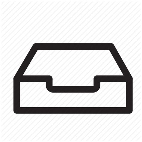 icone lade email paper sort stationary tray icon