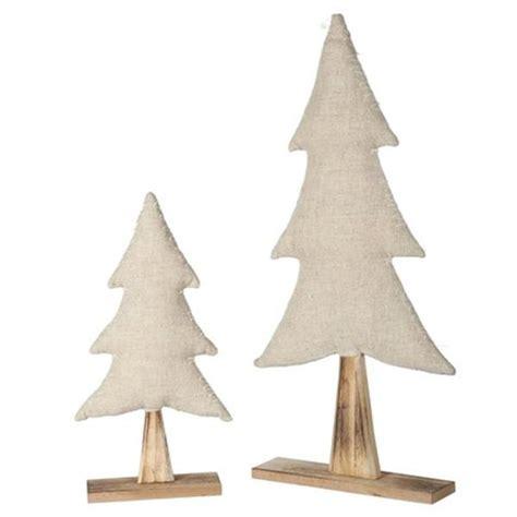 holz weihnachtsbaum holz weihnachtsbaum mit jute zum stellen 58cm