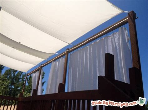 tarp awning diy diy deck awning made by marzipan